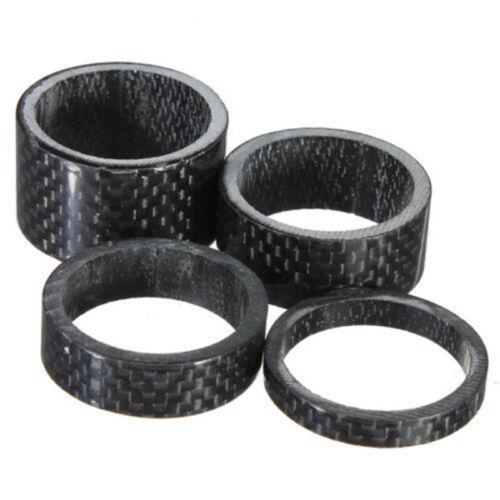 1 1//8 Carbon Faser Fahrrad MTB Headset Vorbau 5-10 15-20mm Scheiben Spacer Set