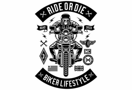Ride Or Die T Shirt Motard Lifestyle Motorcycle Club Hommes Taille S-3XL