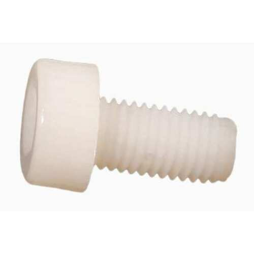 "ZORO SELECT 3437516050 3//8/""-16 x 1//2/"" Nylon Socket Head Cap Screw 10 pk"