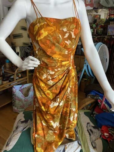 1950s vintage TIKI VIVA hawaiin sarong dress S M