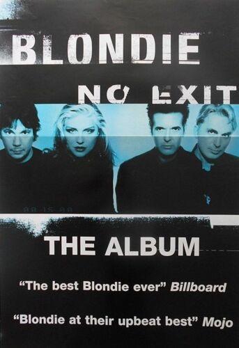 """40x60"""" HUGE SUBWAY POSTER~Blondie 1999 No Exit Album Release Deborah Harry NOS~"""