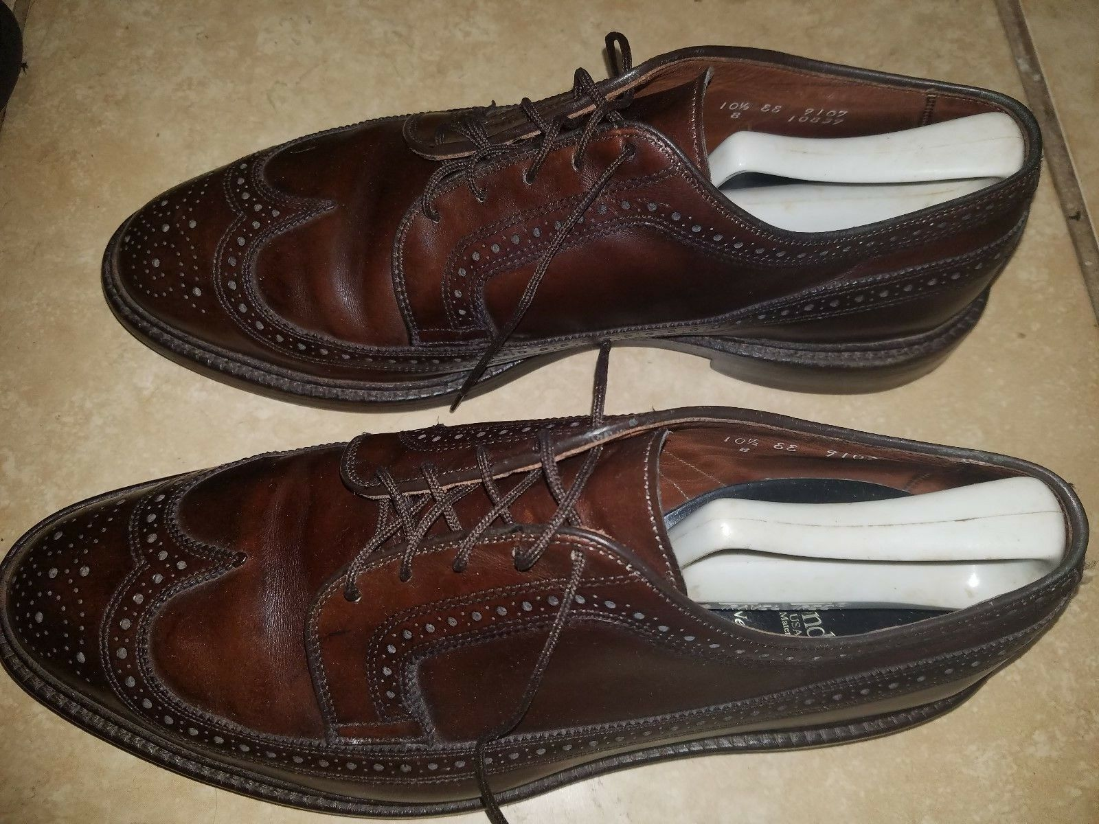 Allen Edmonds MacNeil 10.5 EE Burgundy Wingtips, 9107 44,5EU 44,5EU 44,5EU  425 Recraftable 076cc3