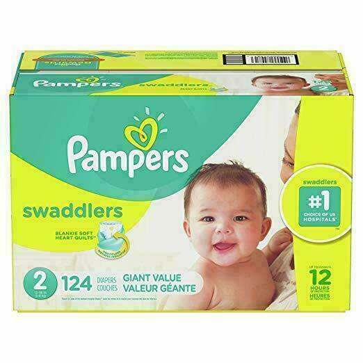 Pampers Swaddlers Diapers, Size 2 - 124 Count CHEAP!!!