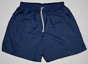High-Five-Navy-Blue-Plain-Nylon-Soccer-Shorts-Men-039-s-Medium