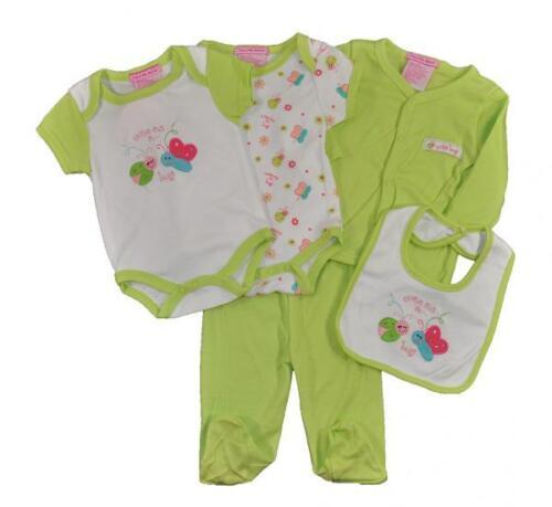 Take Me Home Newborn Girls Lime 5pc Layette Set Size 3//6M 6//9M $22