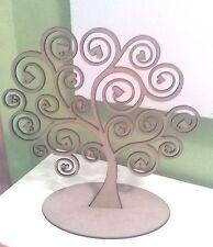 Expositor de pendientes de madera DM para decorar forma de árbol con espirales