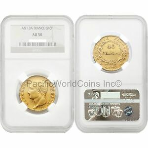 France-AN-13-A-40-Francs-Gold-NGC-AU50