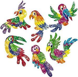 Totally Tropical Parrot Sparkle Reward Stickers - Reward Positive Behaviour