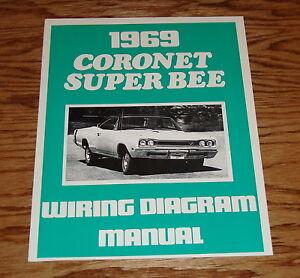 1969 dodge coronet super bee wiring diagram manual 69 ebay rh ebay com 1969 Super Bee 1968 Coronet