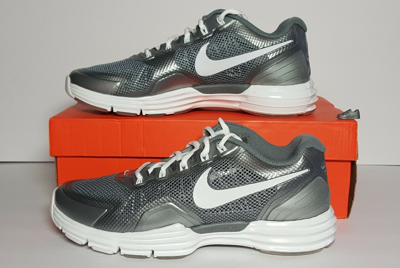NIKE LUNAR TR1 MEN'S SIZE 8 CROSS TRAINER NEW IN BOX COOL GREY WHITE 529169 002