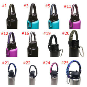 Paracord-Handle-Strap-Cord-Safety-Ring-amp-Carabiner-for-Hydro-Flask-Wide-Mouth