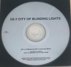 Details About U2 City Of Blinding Lights Mexico 1 Track Promo Cd Coldplay Muse Minds