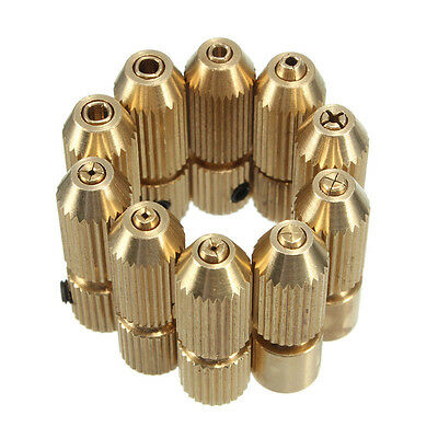 2 2.3 3.17 mm Brass Electric Motor Shaft Clamp Fixture Chuck For 0.7-3.2mm Drill