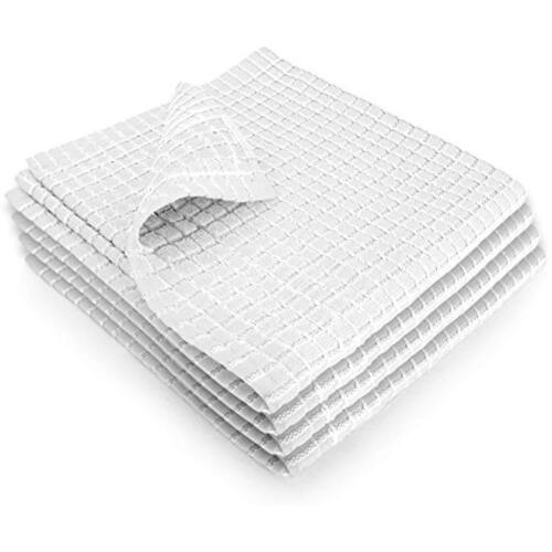 White Set Of 4 Fecido Classic Dish Cloths /& Towels Kitchen With Hanging Loop