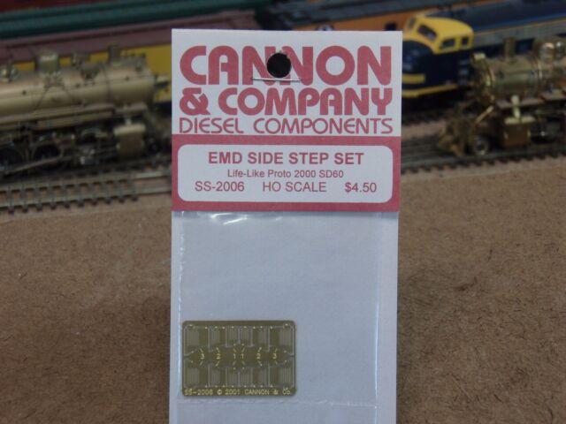 HO Scale Athearn SD70MAC Cannon /& Company #2013 EMD Side Step Set for