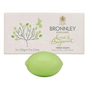 Bronnley-Lime-amp-Bergamot-Hand-Soap-Set-3x100g-3x3-5oz