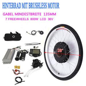 "800W Motor 26/"" 36V E-bike Conversion Kit Elektrofahrrad Umbausatz Hinterrad Set"