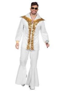 70er 80er Jahre Kostüm Hippie Anzug Disco Party Kleid Schlagerstar Dancing King