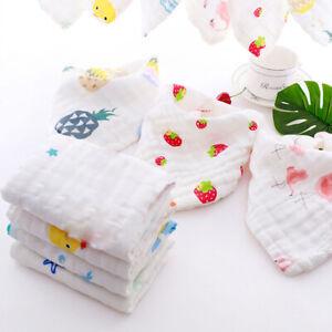 Cotton-6-Layer-Waterproof-Gauze-Kids-Towels-Baby-Bibs-Burp-Clothes-Washcloths