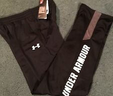 NWT Under Armour Boys XL Navy Blue//Dark Gray Loose Fit Knit Pants YXL