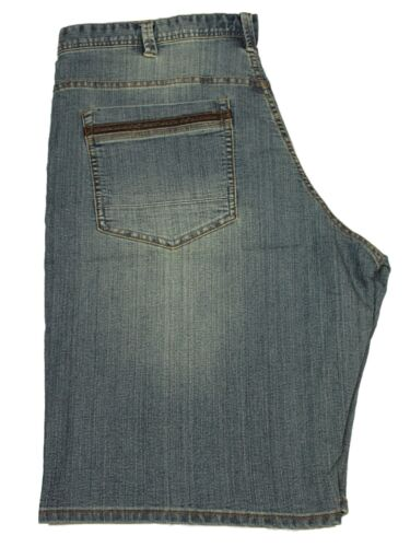 MENS BIG SIZE KAM STRETCH DENIM SUMMER SHORTS BAILEY-2 IN BLUE USED 40 TO 60