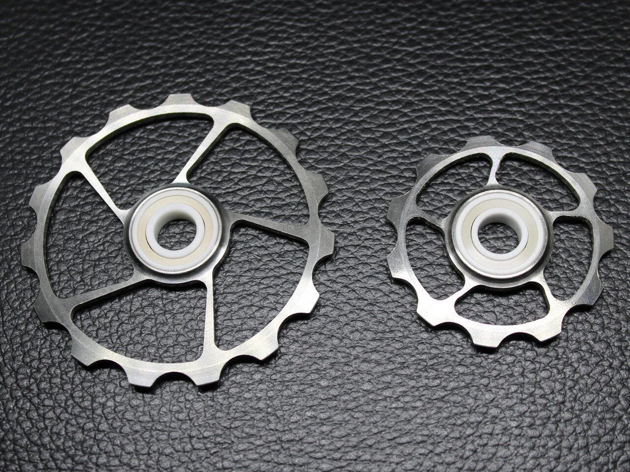 Cojinete de Cerámica Completo 11T+15T Titanio Jockey Rueda para Shimano SRAM Campagnolo
