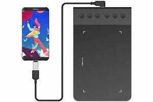 XP-PEN G640S V2 Grafiktablett Pen Tablet unterst/ützt Android-Handy Android-Tablet Zeichentablett mit 6 Funktionstasten 8192 Drucksensitivit/ät unterst/ützt Windows//MacOS//Android 6.0 G640S v2, Schwarz