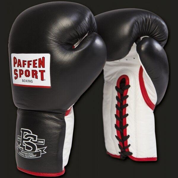 Paffen Sport- Pro Heavy Hitter Boxhandschuhe. 14-20 oz. Boxen. Sparring. schwarz