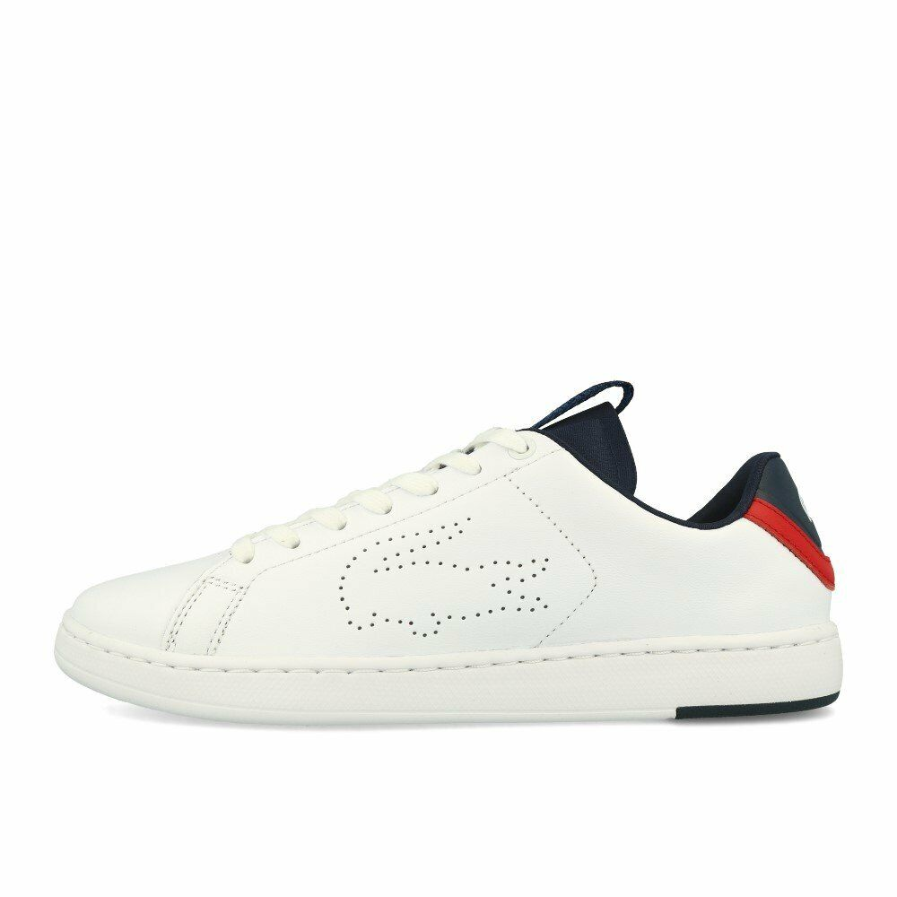 Lacoste Carnaby Evo Light-WT 1191 blanc Navy rouge chaussures Turnchaussures blanc bleu