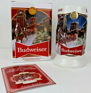 Budweiser 2020 Christmas Stein 2020 Budweiser Holiday Stein Annual Christmas Series Brand New