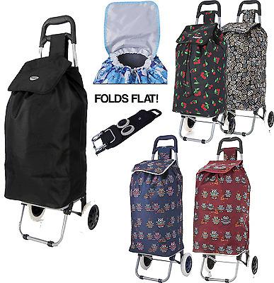 Hoppa grand capacité poids léger A ROULETTES CHARIOT DE COURSES appui sac roues | eBay