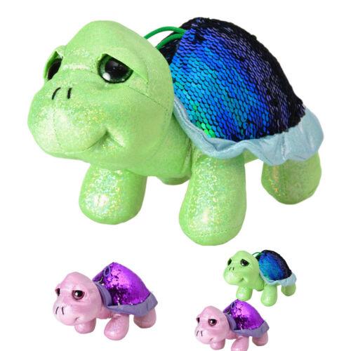 Kuscheltier Schildkröte mit Pailletten in grün Stofftier Plüschtier Deko süß