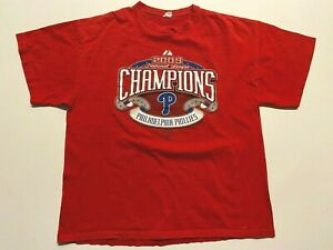 Philadelphia Phillies 2009 Champions World Series MLB Baseball T-Shirt Men's XL