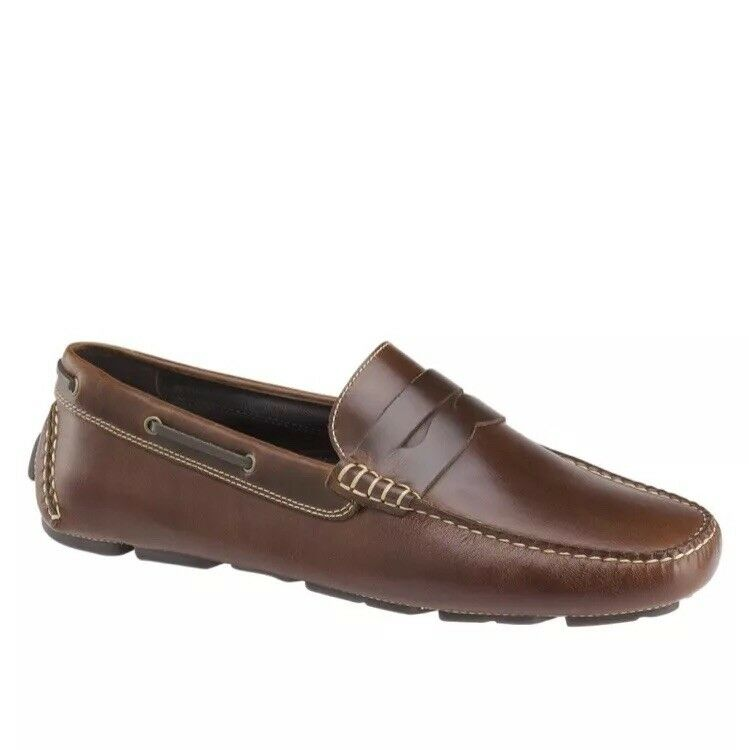 JOHNSTON & MURPHY Tan (GIBSON)PENNY LOAFER LEATHER SHOES - 9M