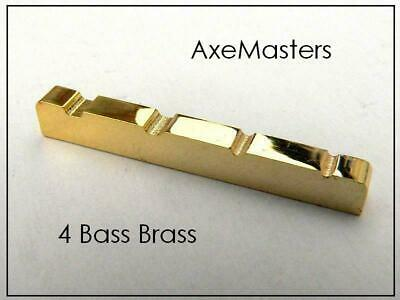 """Solid Slotted Brass Nut for Gibson® 4-String BASS Guitars 1-9//16/"""" 40mm NEW"""