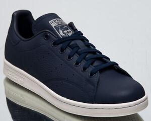adidas-Originals-Stan-Smith-Men-039-s-New-Navy-White-Grey-Lifestyle-Sneakers-BD7450