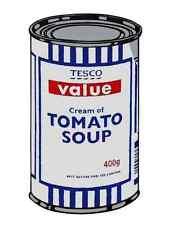 Banksy Tesco Cream Tomato Soup A3 Box Canvas Print