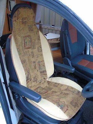 PEUGEOT BOXER MOTORHOME SEAT COVERS FAUX SHEEPSKIN