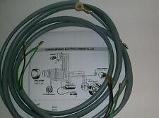 IMPIANTO ELETTRICO ELECTRICAL WIRING  LAMBRETTA J 50 CON SCHEMA ELETTRICO