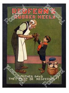 Historic-Redfern-039-s-Rubber-heels-1910s-Advertising-Postcard