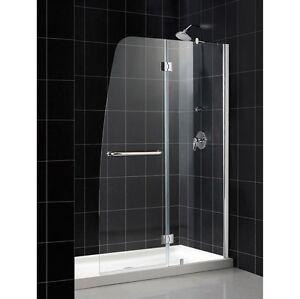 Dreamline 30 Quot X 60 Quot Aqua 1 4 Glass Shower Door Shield And