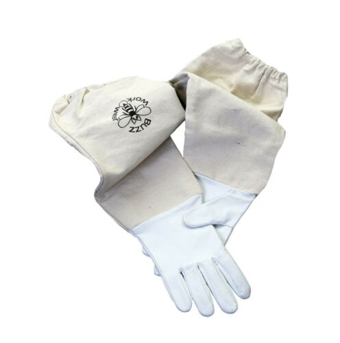 Size S Beekeepers White Leather Gloves