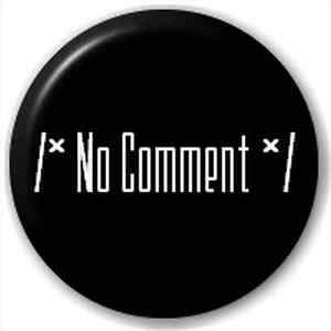 Small-25mm-Lapel-Pin-Button-Badge-Novelty-No-Comment