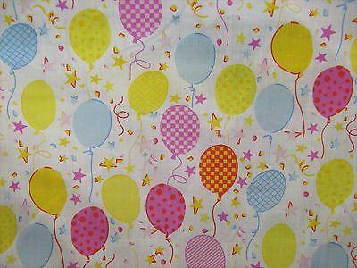 Multicoloured Balloons Polycotton Prints Craft/Dress Fabric 112cm Wid SOLD PER M