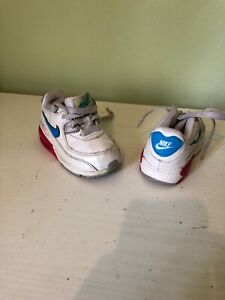 size 40 0abb8 c64ad Details about Kids Toddlers Baby Nike Air Max 90 Trainers ⭐️UK 5⭐️EUR  21.5⭐️white/pink/blue⭐️