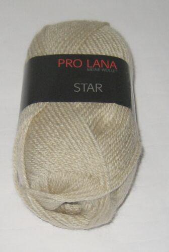 Polyacryl Wolle Garn Häkeln Stricken 1328 50 g PRO LANA Star Uni 100g//2,40€