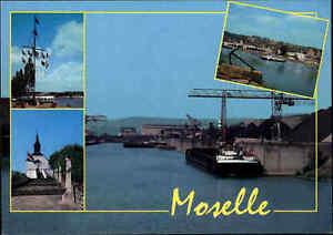Schiff-Motiv-Postkarte-Moselle-Hafen-Luxembourg-Frachter-Binnenschiff-color-AK
