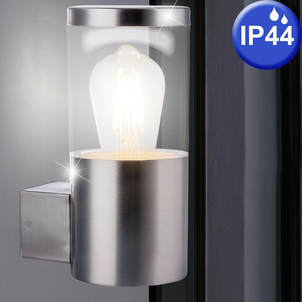 Luxe Mur Lanterne Acier Spot Extérieur Éclairage de Jardin Terrasses Lampe