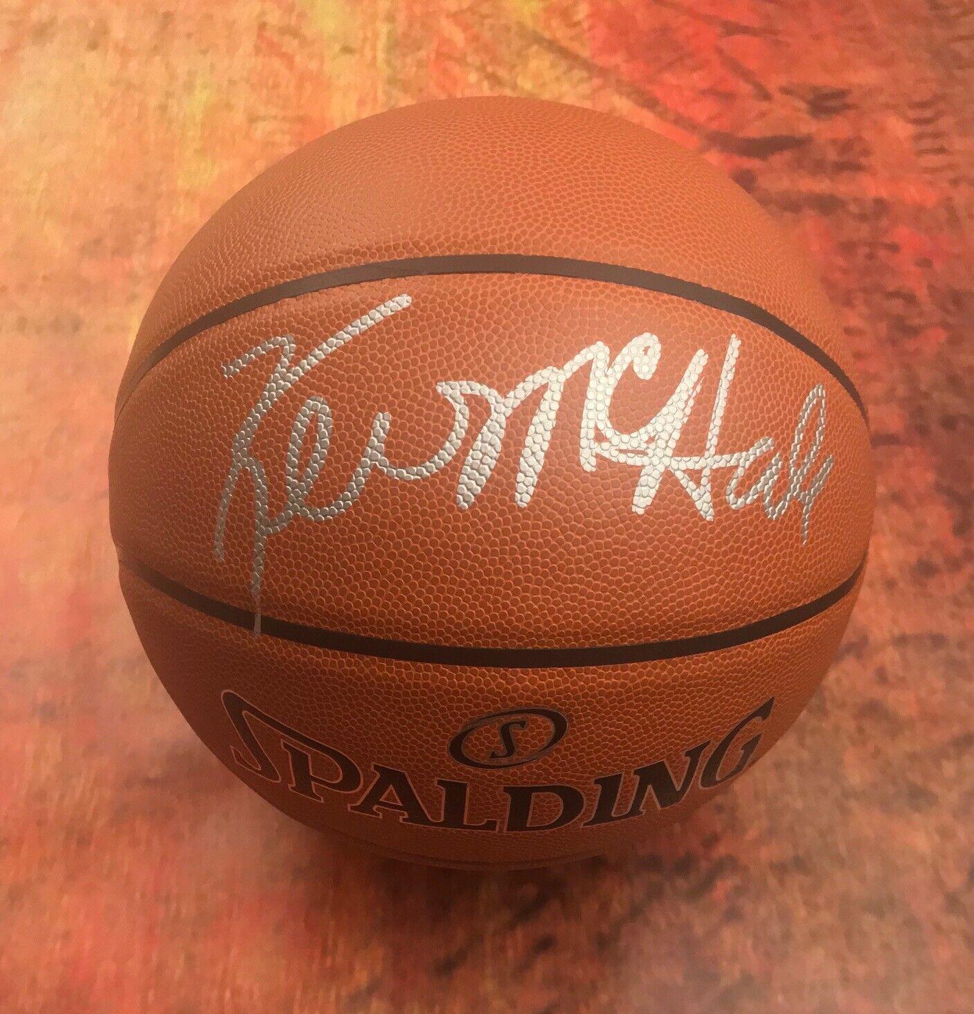 GFA Boston Celtics Hof All-Star Kevin Mchale Autographe Signé Basketball Coa