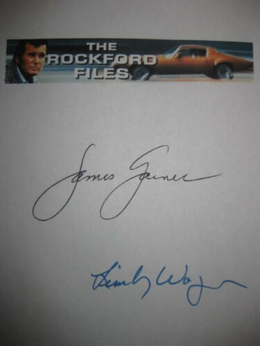 The Rockford Files Signed TV Pilot Script James Garner Lindsay Wagner Autogr rpt